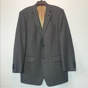 Izod Sport Coat Blazer Gray Nailhead Black & White